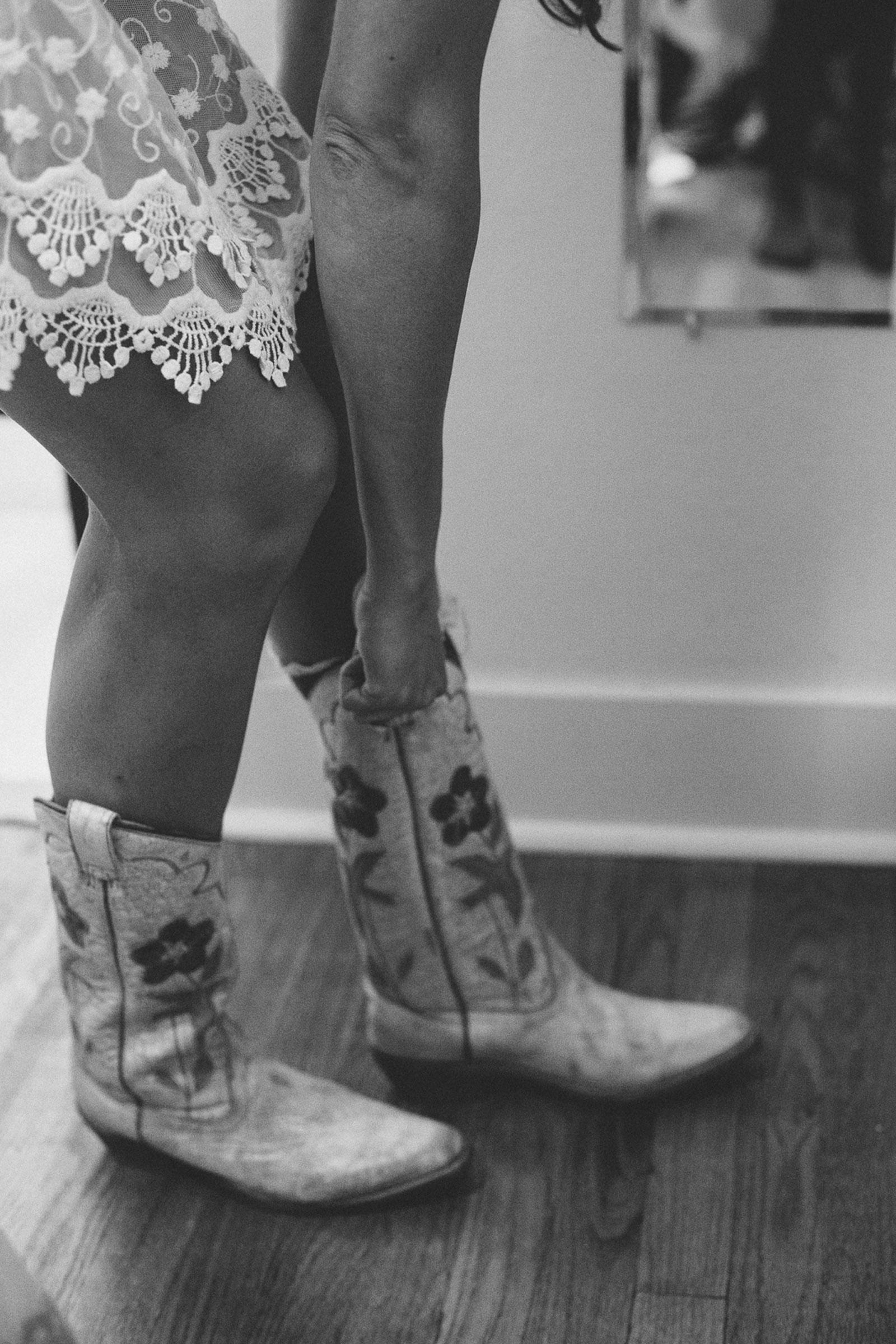 durango wedding dress bride boots