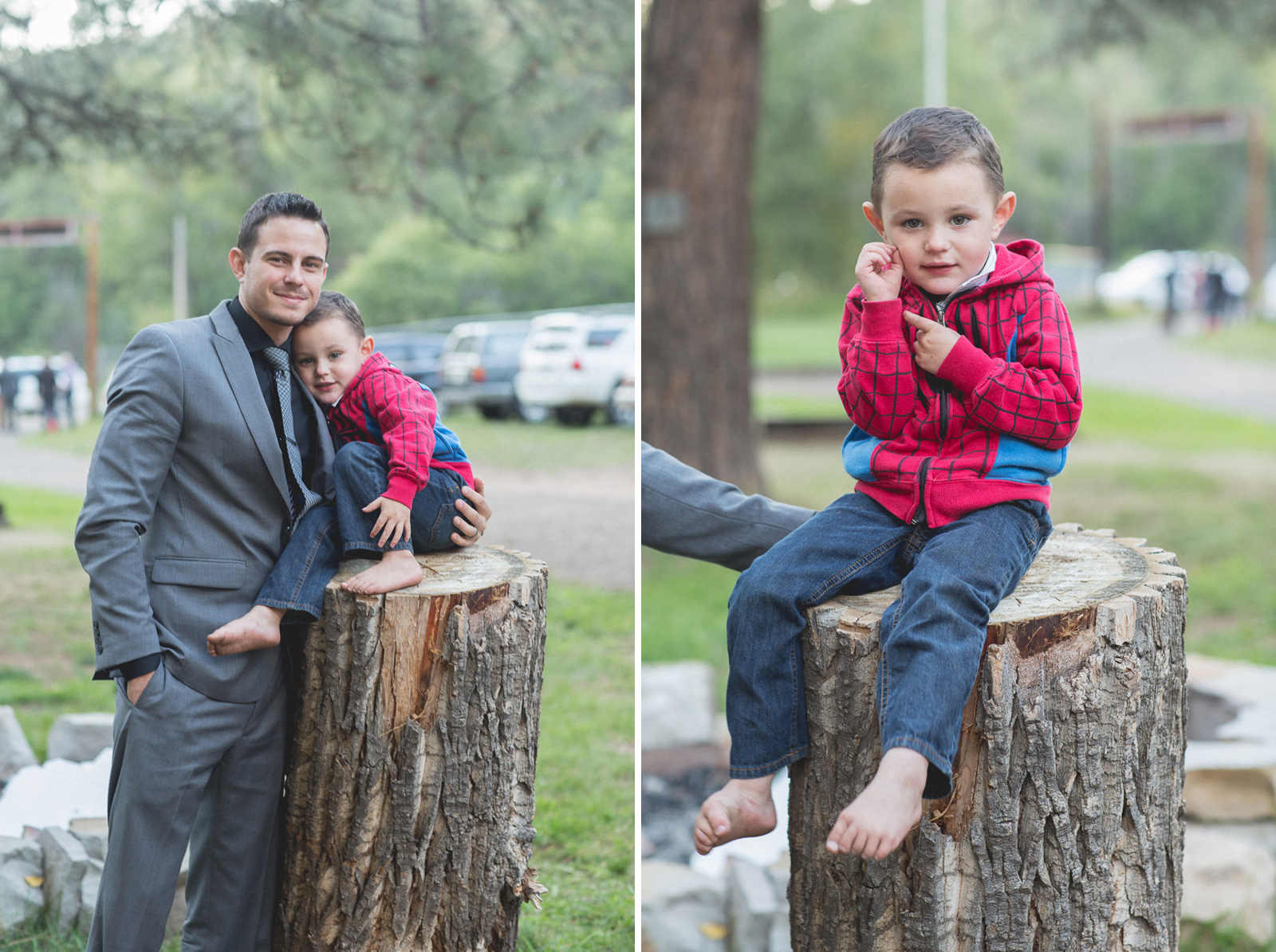 wedding fun photography reception unique nature trees