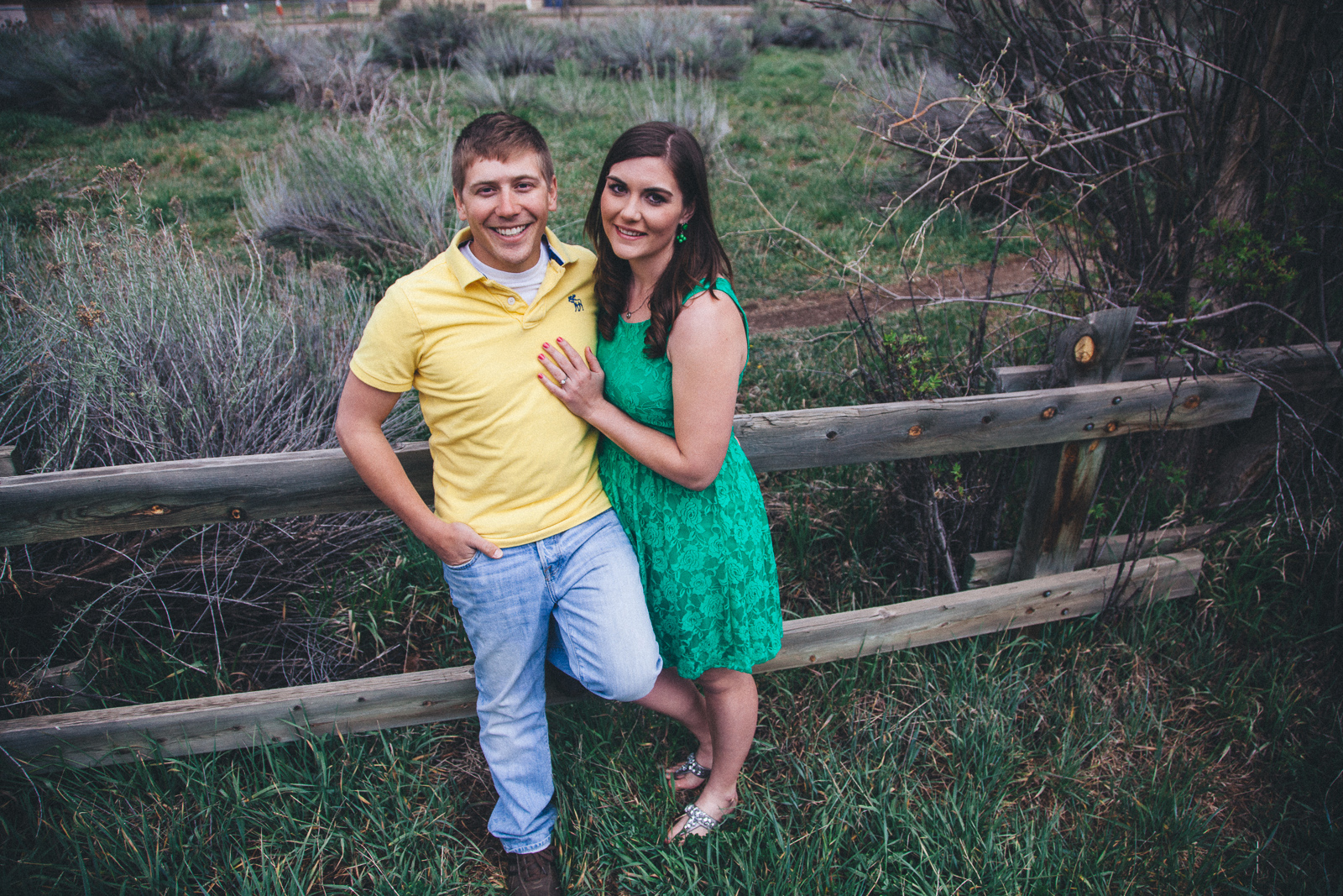 047-engagement-trees-fun-wedding-train-laughing-durango-colorado-farmington-candid