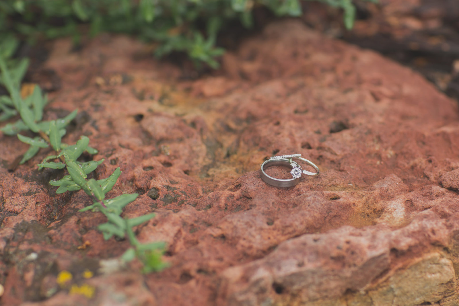 red rock southwest wedding rings