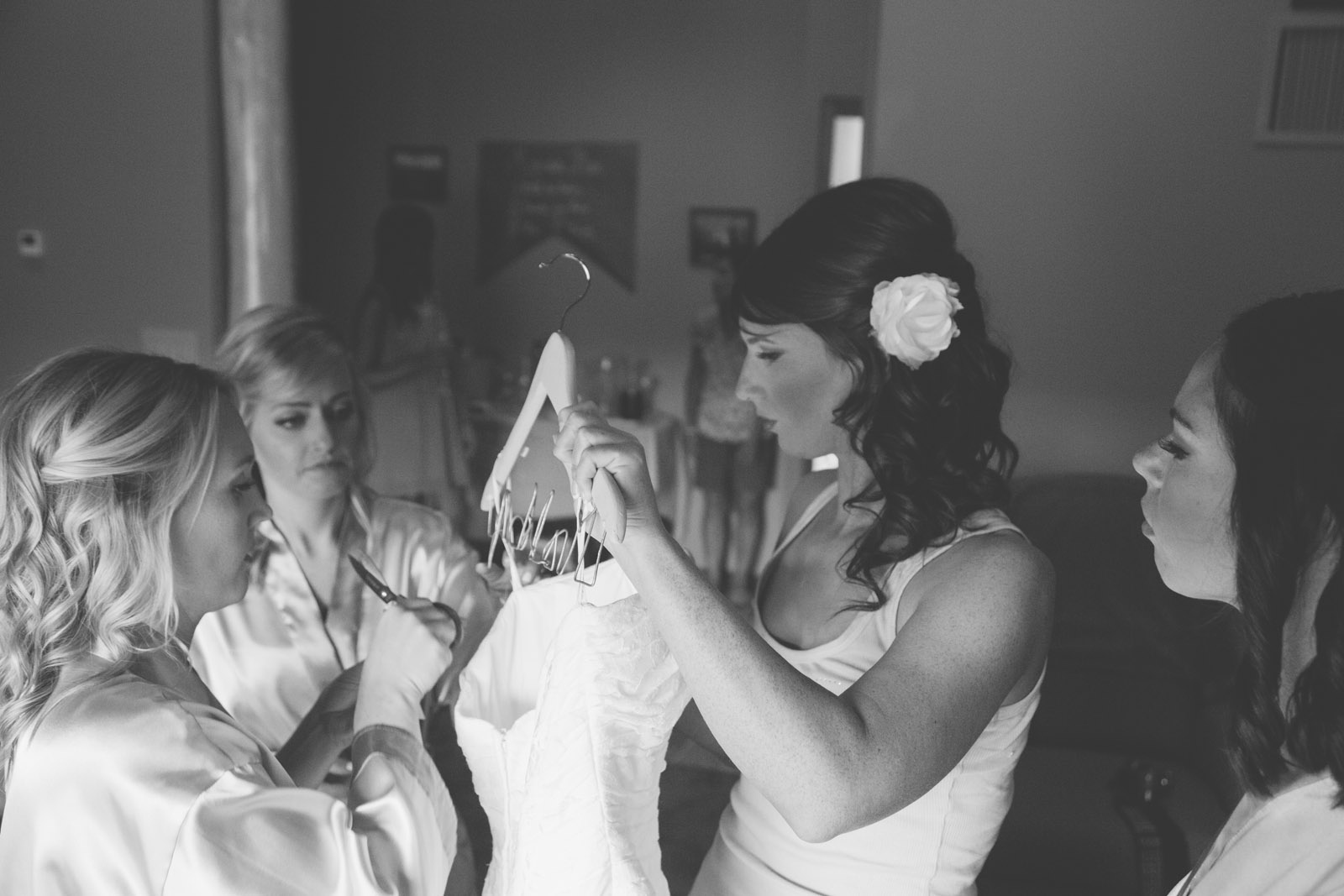 bride greenroom green room black and white