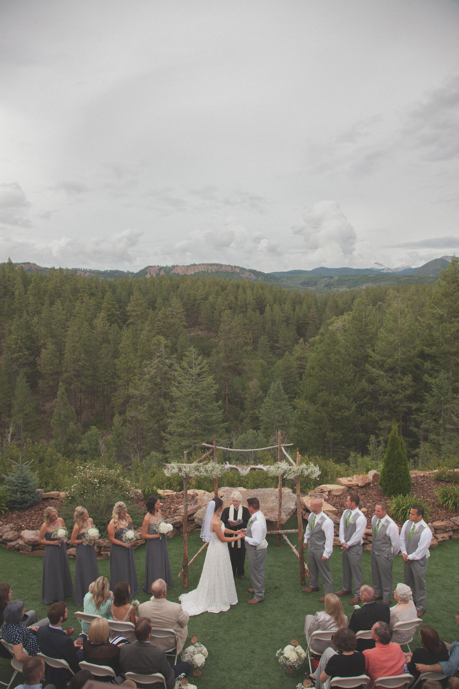 135-wedding-ideas-ideas-wedding-forest-mason-jars-backdrop-colorado-mancos-ceremony