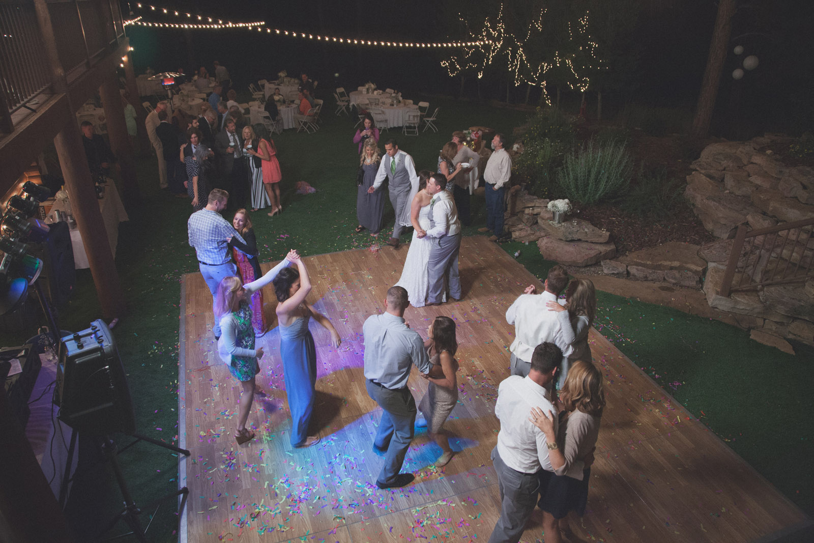 235-reception-ideas-reception-farmington-nm-co-new-mexico-colorado-mancos-ideas-string-lights-cabin-outside-natural-wedding-night-strobe-flash-dance-party