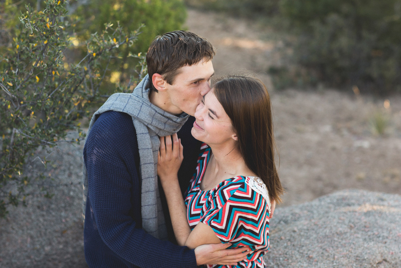 engagement photography in nm desert sandia