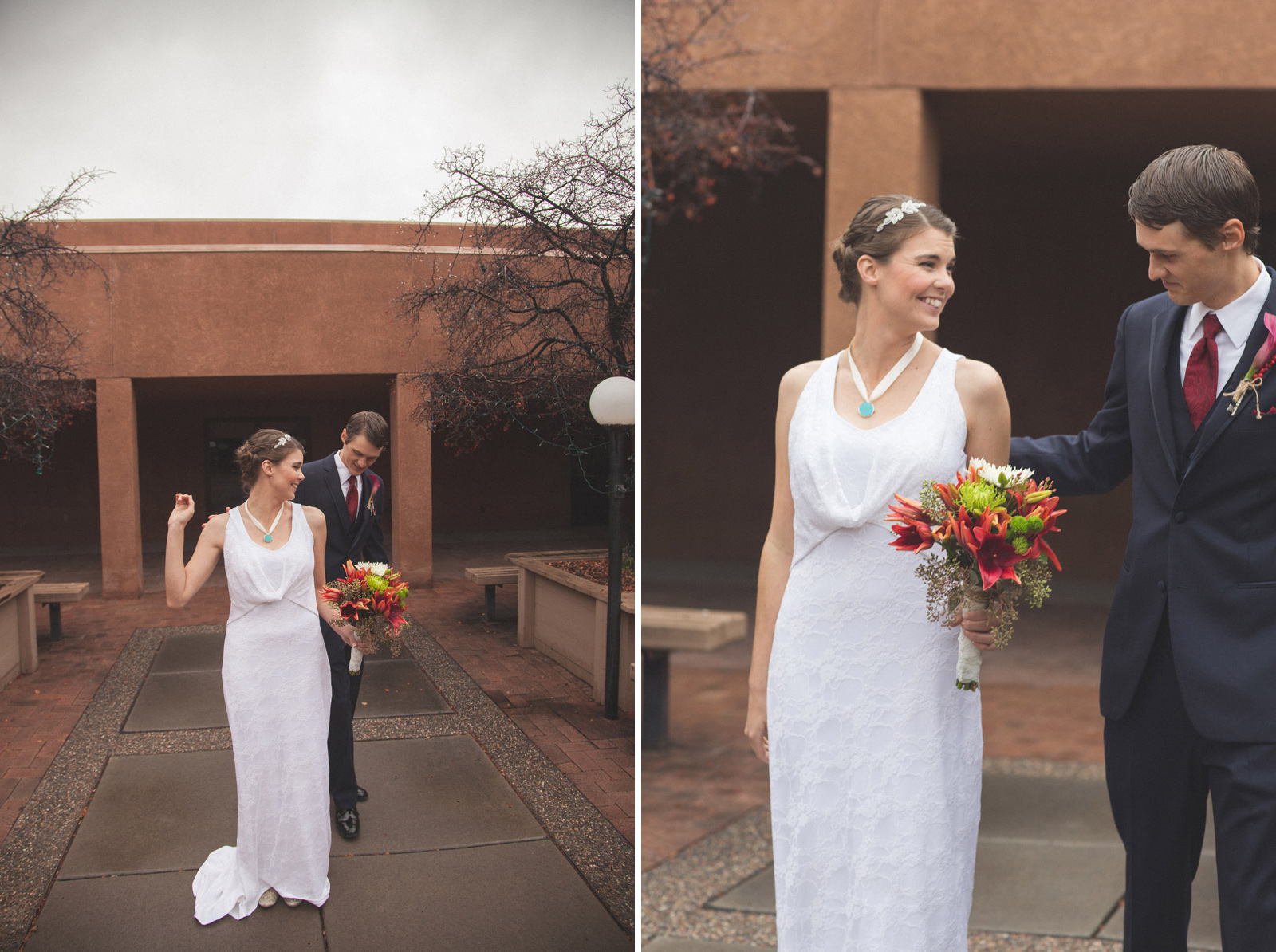 058-bride-and-groom-see-eachother-in-first-look-in-courtyard-before-the-ceremony-in-albuquerque-nm